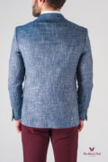 Мужской пиджак блейзер под джинсы синего цвета. Арт.:2-614-5