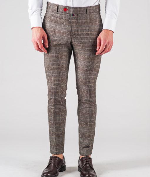 0120df501e90 Мужские коричневые брюки в клетку. Арт.:6-615-3 - Smartcasuals