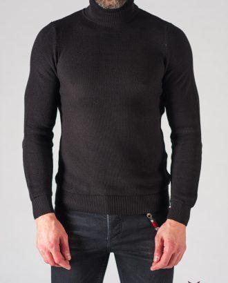 Мужская черная водолазка. Арт.:8-616-8