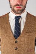 Мужской светло-коричневый жилет. Арт.:3-619-3