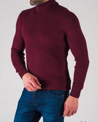 Мужская водолазка бордового цвета. Арт.:8-621-8