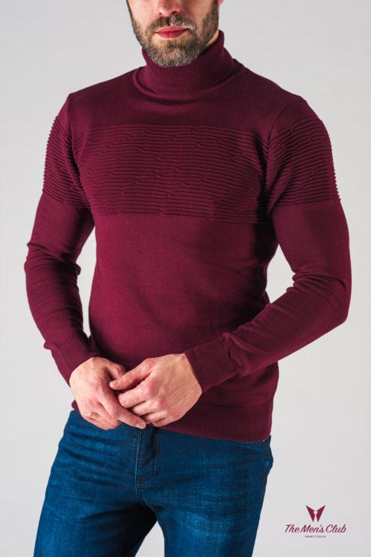 Мужская водолазка цвета бордо. Арт.:8-622-8