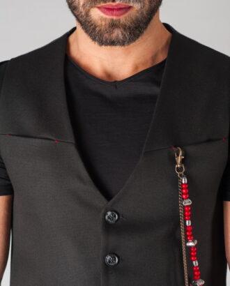 Черный мужской жилет. Арт.:3-624-3