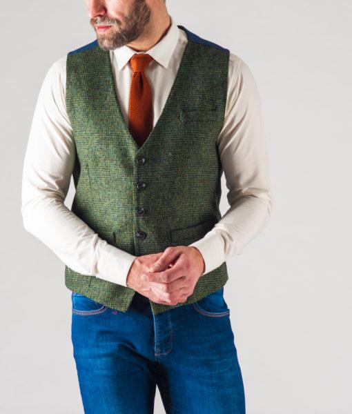 Мужской зеленый жилет. Арт.:3-626-3