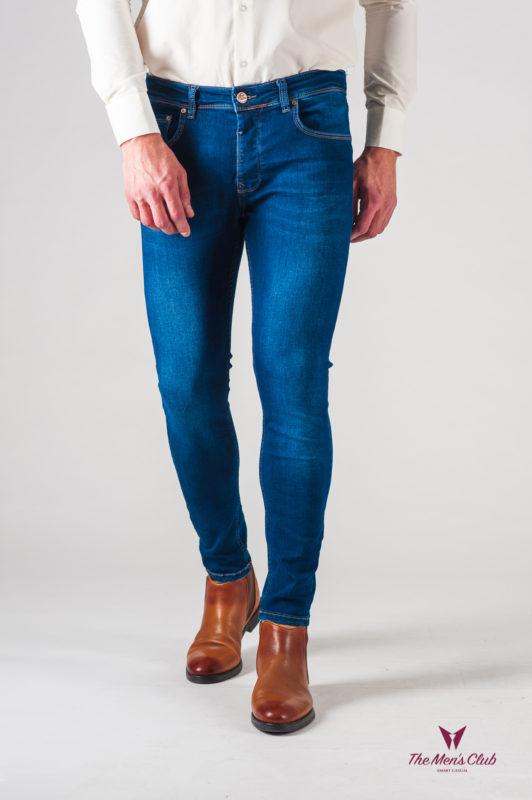 Синие мужские джинсы слим фит. Арт.:7-626