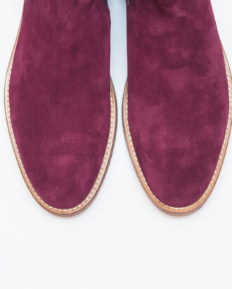 Мужские зимние челси цвета бордо. Арт.:14-605