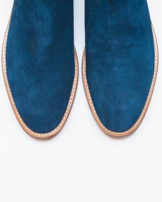 Мужские зимние челси синего цвета. Арт.:14-608
