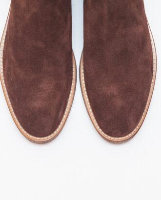 Мужские зимние челси коричневого цвета. Арт.:14-606