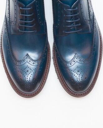Мужские броги синего цвета. Арт.:14-604