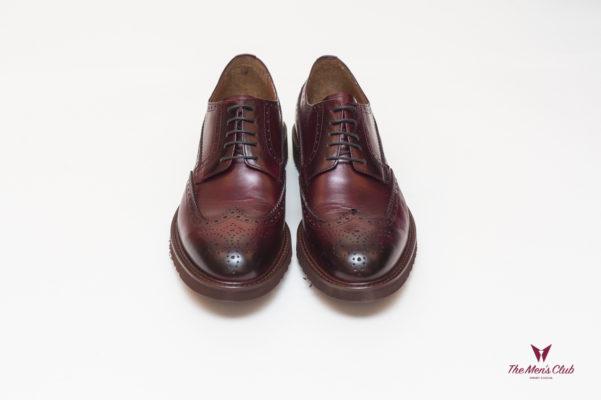 Мужские броги цвета бордо. Арт.:14-603