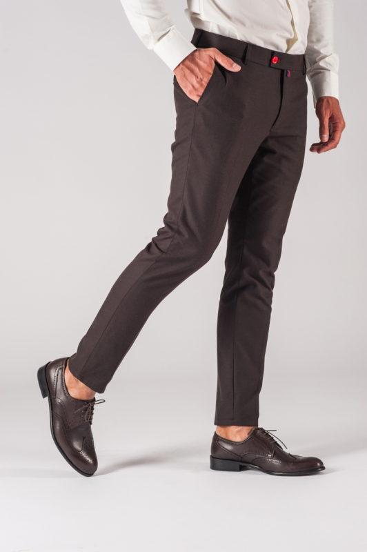 Мужские брюки коричневого цвета. Арт.:6-701-3