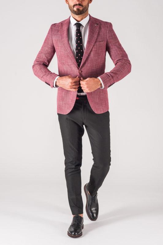 Мужской пиджак розового цвета. Арт.:2-703-5