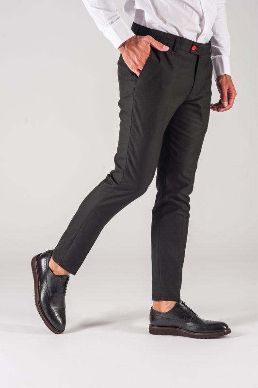 Черные мужские брюки укороченной длины. Арт.:6-703-3