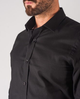 Черная мужская рубашка. Арт.:5-706-3