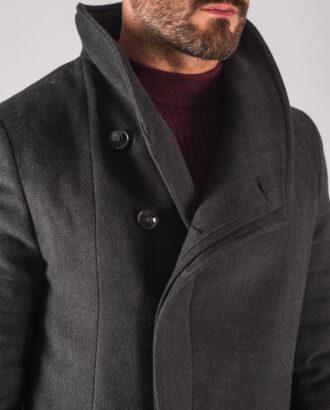 Зимнее мужское пальто черного цвета. Арт.:1-707-10