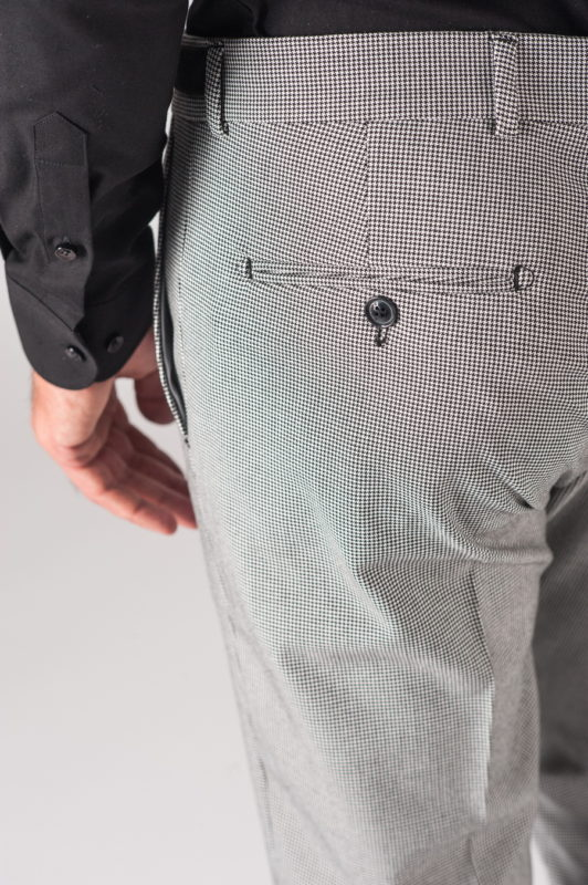 Мужские брюки в мелкую ломаную клетку. Арт.:6-709-3