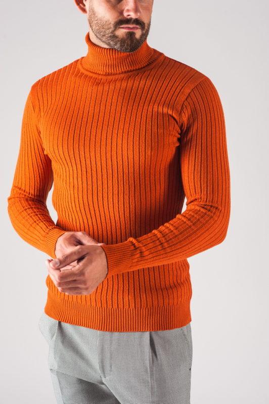 Мужская водолазка оранжевого цвета. Арт.:8-709