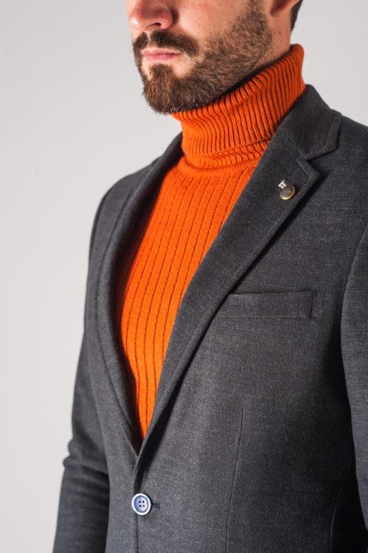 Мужской трикотажный пиджак серого цвета. Арт.:2-709-5