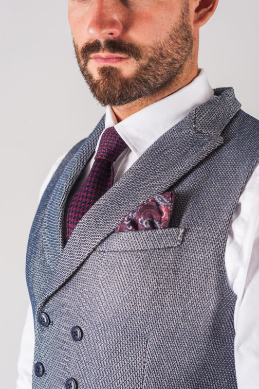 Мужская приталенная жилетка в сером оттенке. Арт.:3-710-3