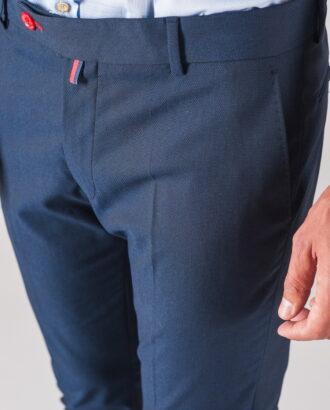 Мужские брюки синего цвета. Арт.:6-713-3