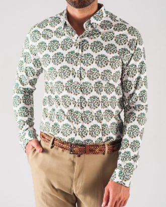 0534069b96d63d7 Мужская рубашка с растительным принтом. Арт.:5-716-8 ...