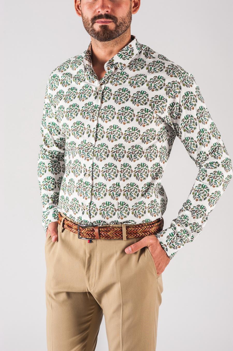736e18db832b71c Мужская рубашка с растительным принтом. Арт.:5-716-8 - Smartcasuals