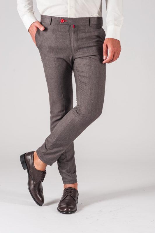 Светло-коричневые мужские брюки. Арт.:6-717-3