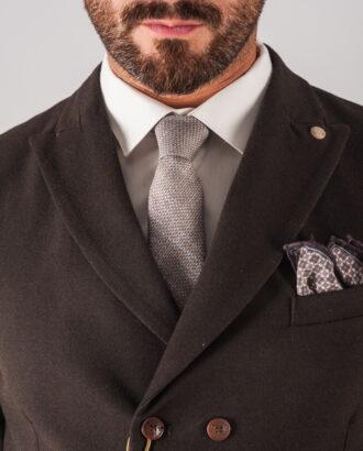Двубортная мужская коричневая жилетка. Арт.:3-718-3