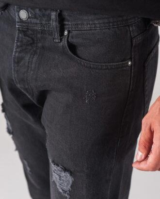 Мужские укороченные джинсы темно-серого цвета. Арт.:7-719