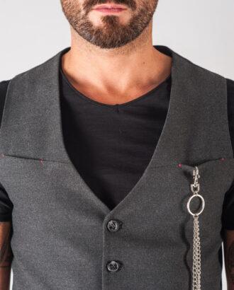 Серая мужская жилетка под джинсы. Арт.:3-719-3