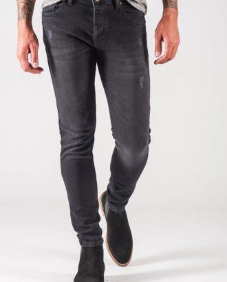 Серые мужские джинсы скинни. Арт.:7-720
