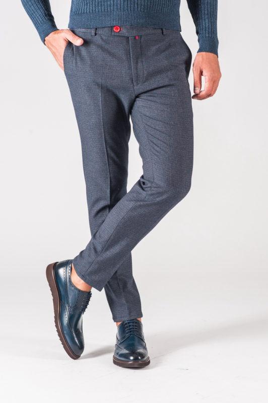 Мужские брюки в мелкую клетку. Арт.:6-721-3