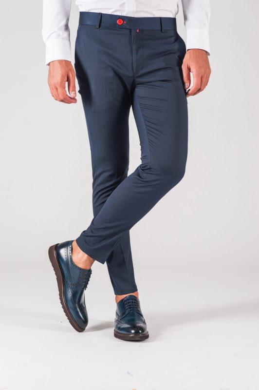 Темно-синие мужские брюки. Арт.:6-722-3
