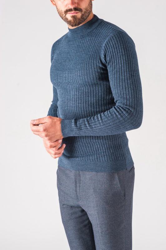 Серо-синяя мужская водолазка. Арт.:8-721