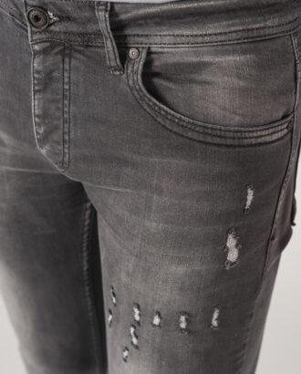 Серые мужские джинсы скинни. Арт.:7-733