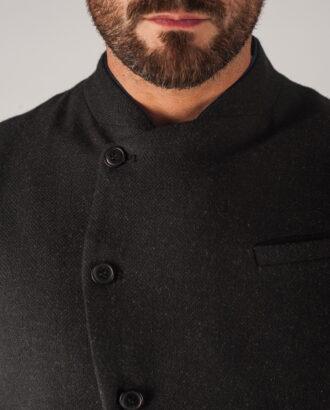 Мужской дизайнерский жилет черного цвета. Арт.:3-737-3
