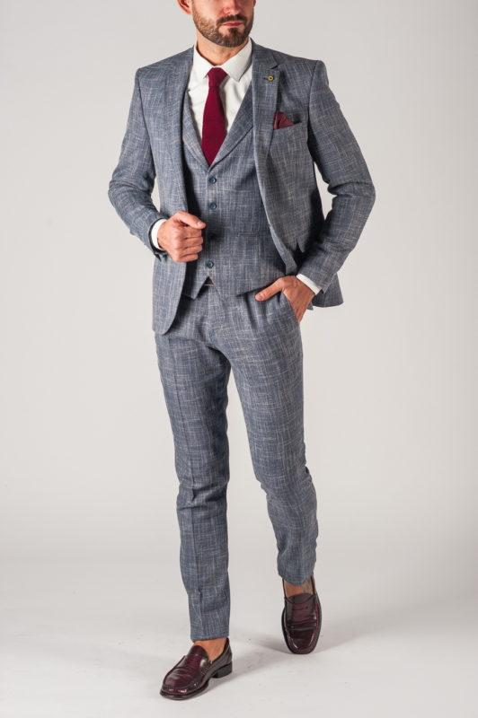 Мужской костюм-тройка в стиле кэжуал. Арт.:4-740-5