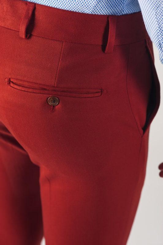 Мужские брюки терракотового цвета. Арт.:6-743-3