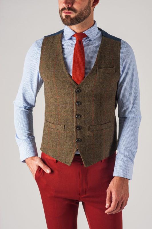 Мужская жилетка под джинсы зеленого цвета. Арт.:3-743-3