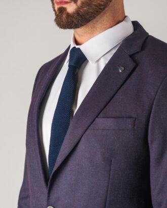 Мужской фиолетовый костюм-двойка. Арт.:4-748-2