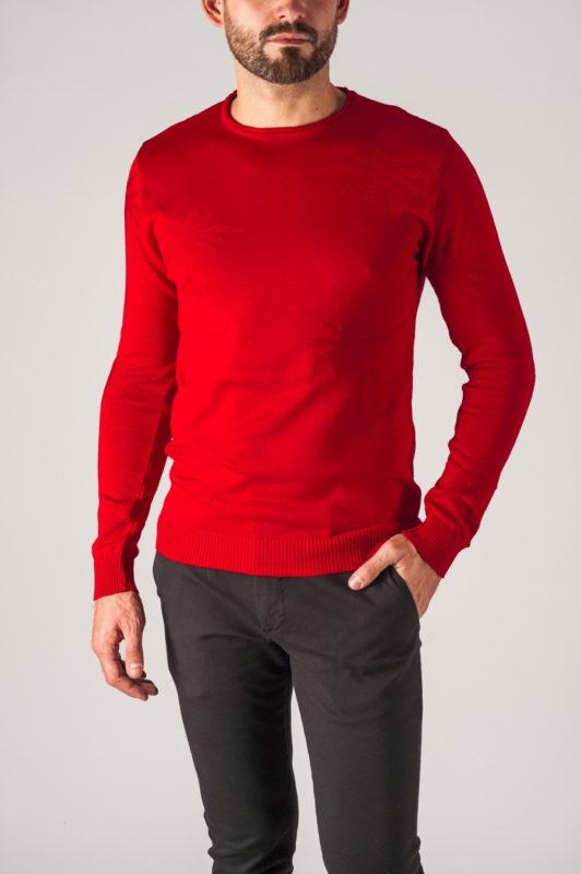 Красный мужской джемпер. Арт.:8-751
