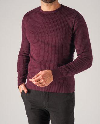Бордовый мужской джемпер. Арт.:8-753