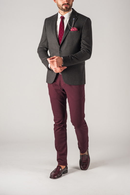 Мужской темно-серый пиджак. Арт.:2-756-1