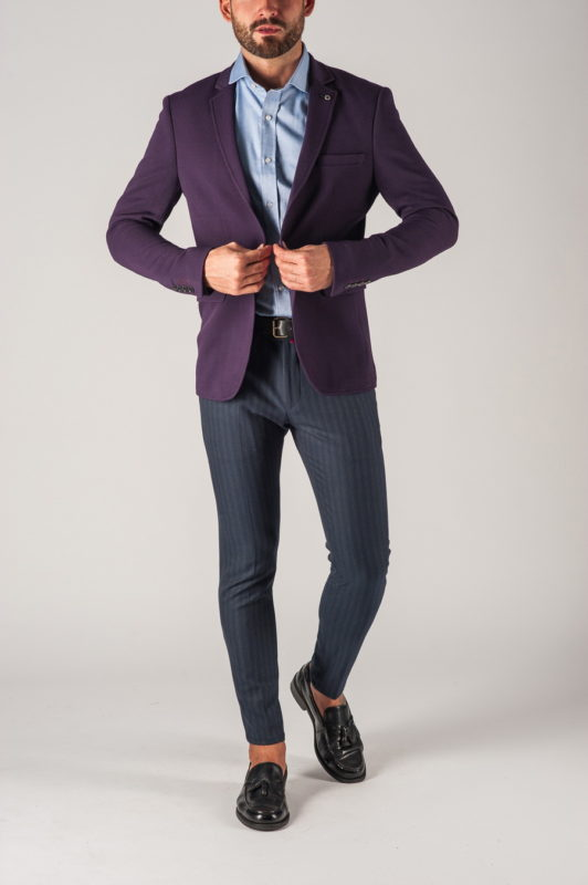 Мужской пиджак в фиолетовом цвете. Арт.:2-757-2