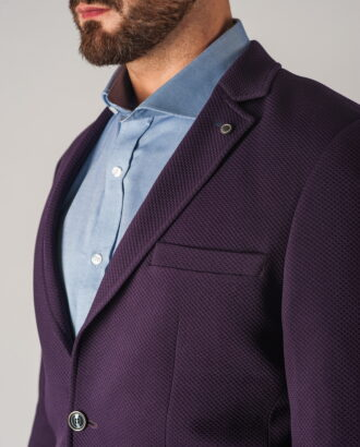 Мужской пиджак фиолетового цвета. Арт.:2-757-2