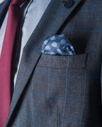Мужской синий пиджак в клетку. Арт.:2-758-2