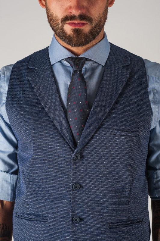 Мужской жилет сиреневого цвета. Арт.:3-758-1