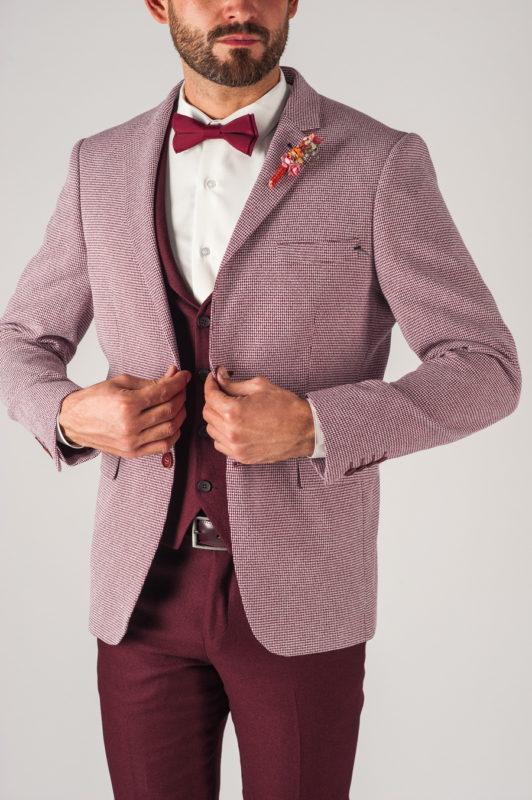 Мужской пиджак в розовом цвете. Арт.:2-759-2