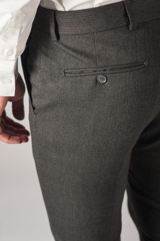 Зауженные мужские брюки серого цвета. Арт.:6-768-3