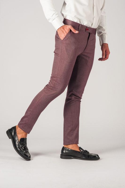 Мужские брюки в бордовом цвете. Арт.:6-771-3